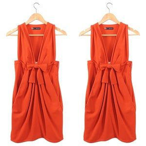 Dsquared2 red tomato front bow dress
